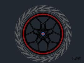 摩托车车轮CAD三维设计