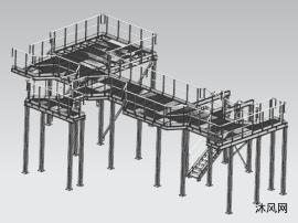 钢结构平台三维图