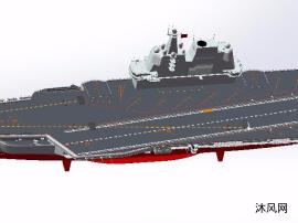 国产首艘航母002型编号17模型