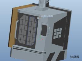 加工中心钣金三维模型图纸