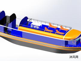 漂亮的私人游艇设计模型