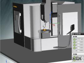德玛吉DMU-HSC-75模型 vericut五轴联动加工中心