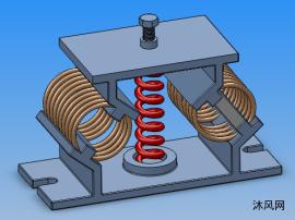 FXG型非线性金属弹簧隔振器系列模型  共7种规格