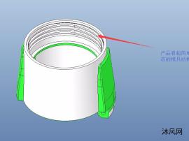 內螺紋產品齒輪齒條油缸抽芯模具圖紙