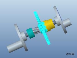 Pro/E建模离合器