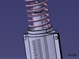 减震器压电发电装置