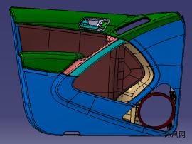 汽车左前门塑料件结构