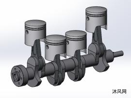 发动机曲轴运动机构