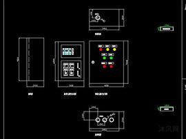 反洗水泵空压机加药螺杆泵控制箱电气图纸