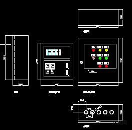 污水处理站潜水排污泵控制箱电气图