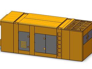 800kW超静音箱柴油发电机组外壳钣金