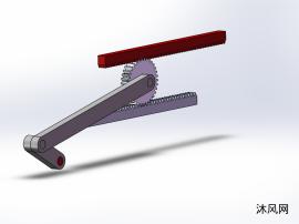 曲柄齿轮齿条机构