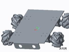麦克纳姆轮小车三维模型
