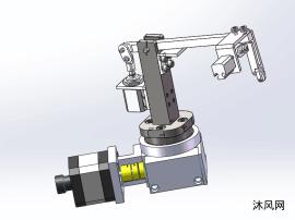 简易取件放件机械手模型