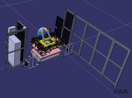 天窗机器人铆接工作站