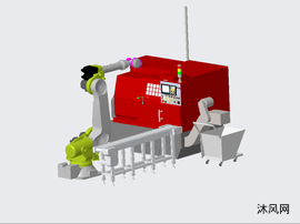 机器人自动上下料加工中心