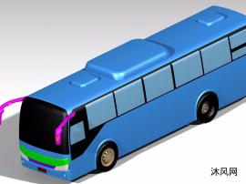 CATIA旅游客車三維模型