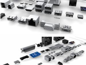 最全接口及插头元器件数据线电源usb模型
