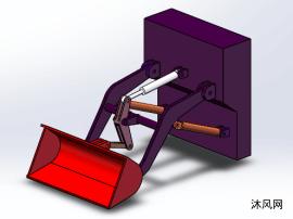 装载机工作装置SolidWorks