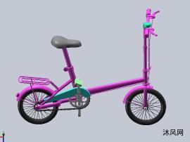 精巧自行车三维模型