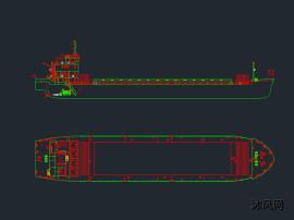 800吨江船布置图