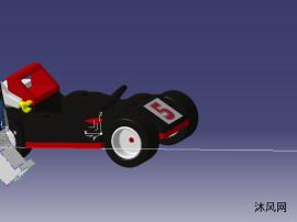 5号赛车积木玩具模型