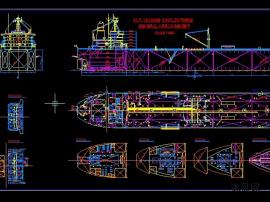 船泊设计图(长度218M/宽度32M)