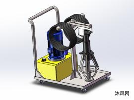 液壓拔輪器及專用推車總裝圖(液壓拉馬)