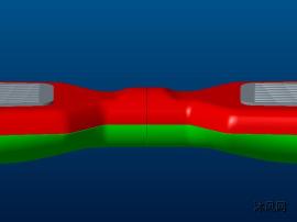 儿童平衡车外部建模(无内部结构)