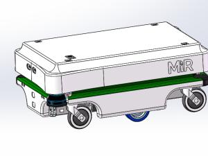 国外Mir100激光导航agv小车