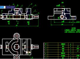 虎鉗CAD裝配圖及零件圖