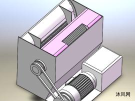 瓜果切片切絲機三維模型及CAD圖紙