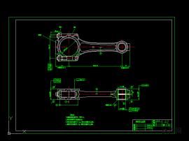 發動機曲軸連桿圖