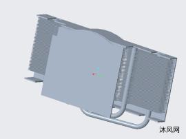 VGA显卡散热器热仿真模型