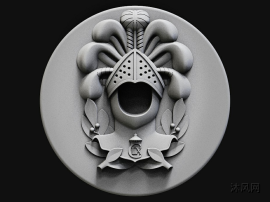 可3d打印骑士会徽三维模型