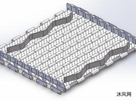 输送链板详细装配体模型