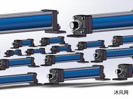 四拉杆HO系列油压缸 HOB+LB型前后脚座型 共17种型号