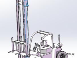 叉车模型sw设计