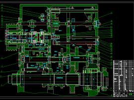 车床主传动系统设计计算及结构设计(7.5KW,z=18,1.26,最小转速20,D=320)