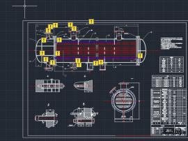 列管式换热器CAD图4管程