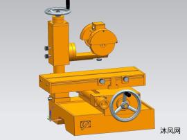 立柱平面磨床设备装配模型