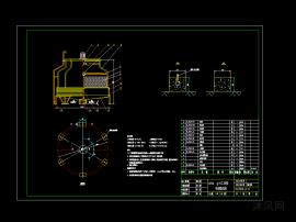 循环水量150立方米工业型冷却塔总图