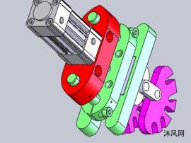 气压滚轮设计图