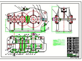 cad二级圆柱齿轮减速器