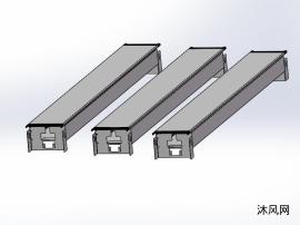 3种规格型号电缆导管设计模型