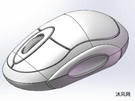 無線鼠標sw三維模型