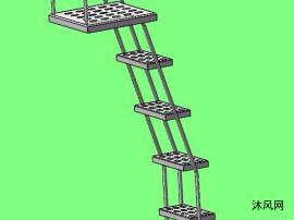 混凝土搅拌运输车爬梯总成