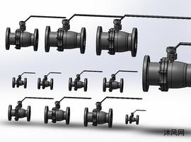 12款规格型号Q41PPL-40R法兰连接球阀(DN15-DN200全系列)