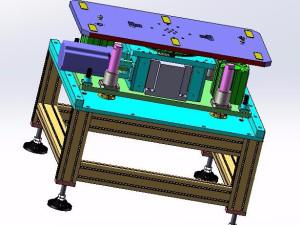 方形铝壳电池顶升旋转机构