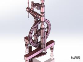 旋转的轮子模型